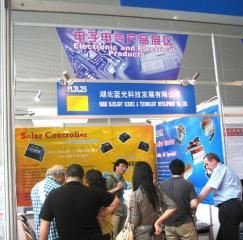 Visit to Hubei Bluelight booth on and on